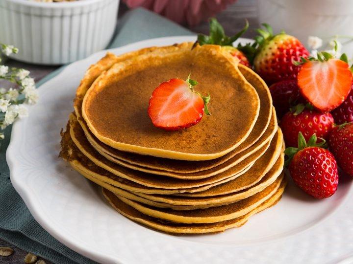 tortitas de avena, desayunos fitness, desayunos con avena fitness, tortitas de avena fitness