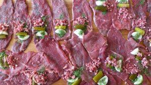 Filetes de ternera rellenos de verduras
