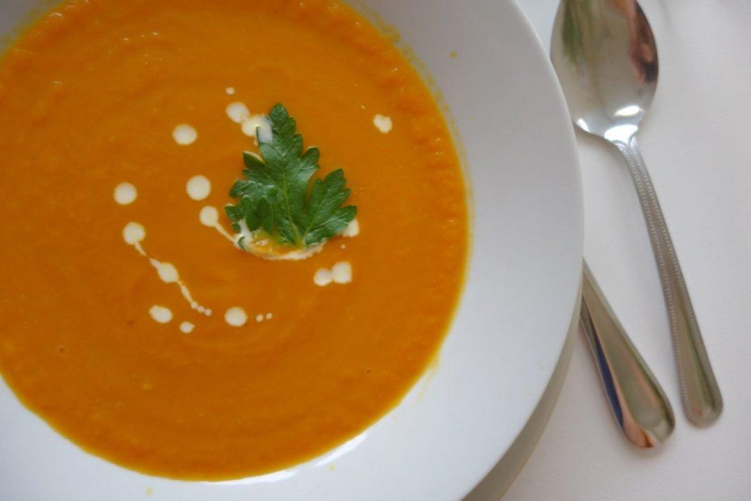 crema de zanahoria fit