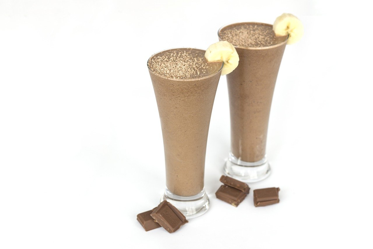 Smoothies de Pera, Chocolate y Plátano