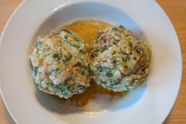 Albóndigas de pavo en salsa blanca de champiñones