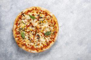 pizza de pollo fitness