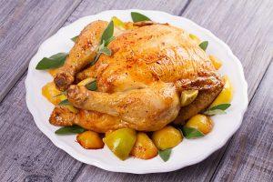 pollo con manzana