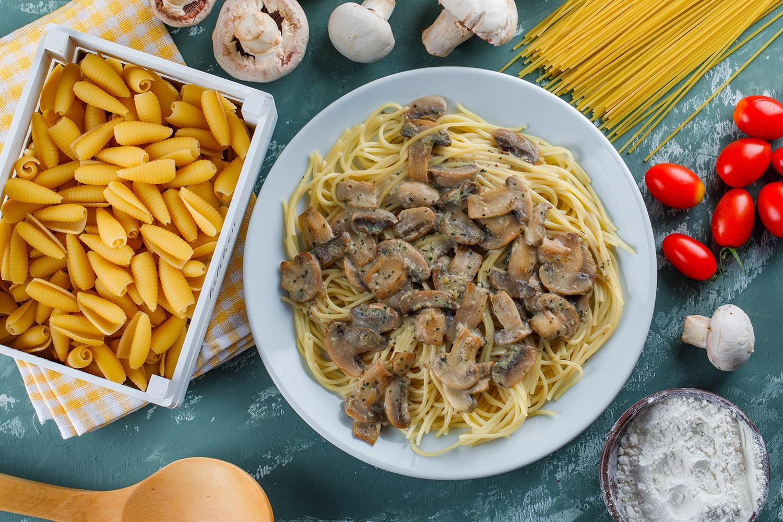 espaguettis con setas